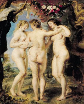 Fine Art Print of The Three Graces, c.1636-39 by Peter Paul Rubens