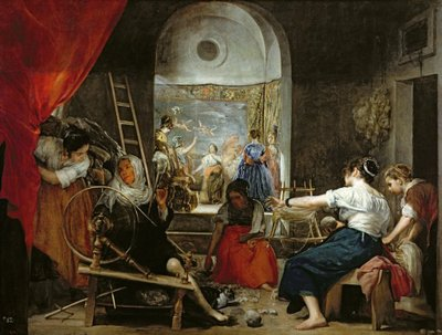 Fine Art Print of The Spinners, or The Fable of Arachne, 1657 by Diego Rodriguez de Silva y Velazquez