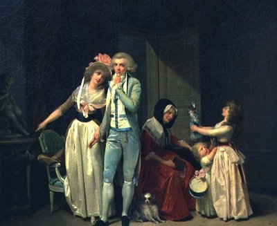 Fine Art Print of Those who Inspire Love Extinguish it, or The Philosopher, 1790 by Louis Leopold Boilly