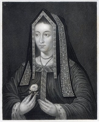 Fine Art Print of Portrait of Elizabeth of York by William the Younger Holl