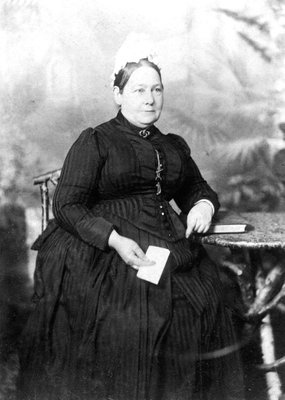 Elizabeth Ann Everest (d.1895), Nanny to Winston Churchill (1874-1965) (b/w photo) by English Photographer - print
