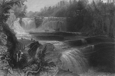 Trenton High Falls, 1838 Poster Art Print by William Henry Bartlett