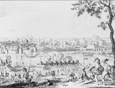 The Battle of Zutphen, 22nd September 1586 (engraving) by Dutch School - print