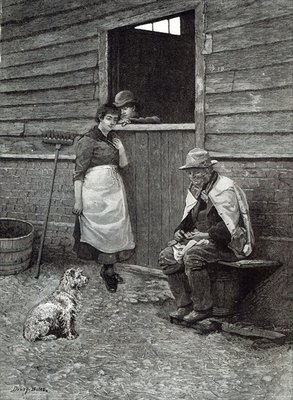 Fine Art Print of Expectancy, from 'Leisure Hour', 1888 by Dewey Bates