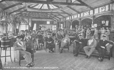 YMCA Hostel, Piccadilly, Manchester, c.1910 Poster Art Print by English Photographer