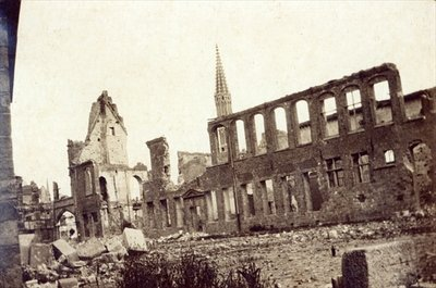 Ruins near the Powder Magazine, Ypres, June 1915 (b/w photo) by English Photographer - print