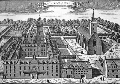 The Colledge of Glasgow, from 'Theatrum Scotiae', 1693 (engraving) (b/w photo) by John Slezer - print