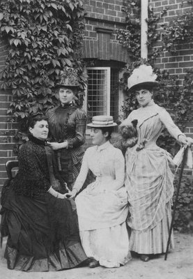 Jennie Jerome, later Lady Randolph Churchill, with her mother and sisters (b/w photo) by English Photographer - print