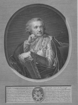Fine Art Print of Count Stroganov, engraved by Ignaz Sebastian Klauber, 1802 by Johann Baptist I Lampi