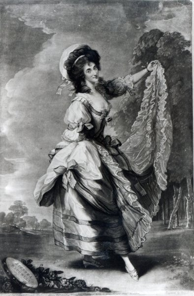 Giovanna Baccelli, engraved by John Jones (mezzotint) by Thomas Gainsborough - print