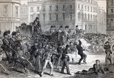 Fine Art Print of A Belfast Riot by English School