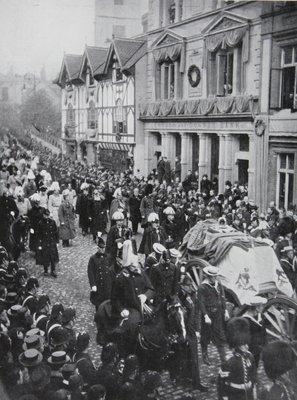 Queen Victoria's Funeral procession at Windsor, 1901 Poster Art Print by English Photographer