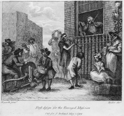 Fine Art Print of First Design for The Enraged Musician, 1799 by William Hogarth