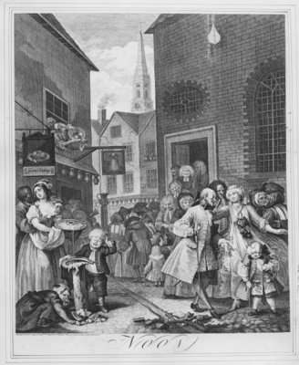 Fine Art Print of Times of the Day, Noon, 1738 by William Hogarth