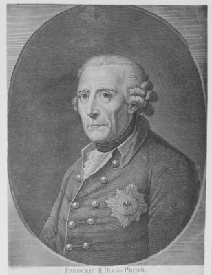Friedrich II, King of Prussia, 1797 (engraving) by Anton Graf - print