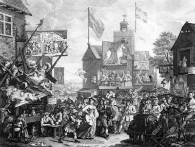 Fine Art Print of Southwark Fair, 1733 by William Hogarth