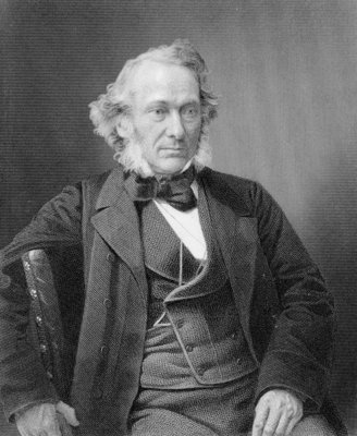 Richard Cobden, engraved by William Holl from a photograph, c.1860 (engraving) by W. and D. Downey - print
