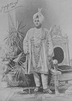 Jagatjit Singh of Kapurthala, 1891 (engraving) by English Photographer - print