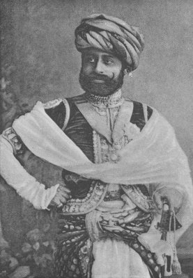 Thakore Sahib Waghji II Rawaji (engraving) by English Photographer - print