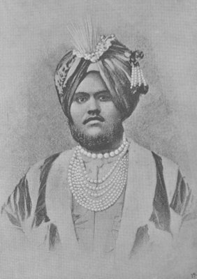Maharaja Jagatjit Singh of Kapurthala (engraving) by English Photographer - print