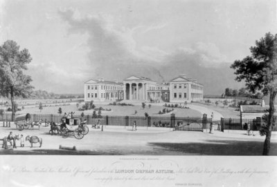 The London Orphan Asylum, c.1830 (engraving) by George Hawkins - print