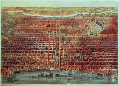 General View of Philadelphia, 1875 (print) by N. Currier - print
