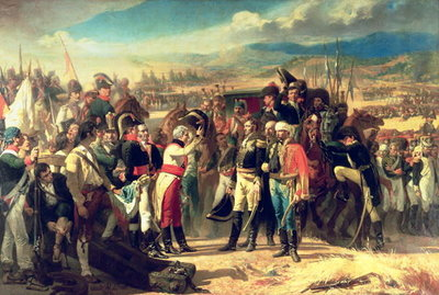 Fine Art Print of The Surrender of Bailen, 23rd July 1808 by Jose Casado del Alisal