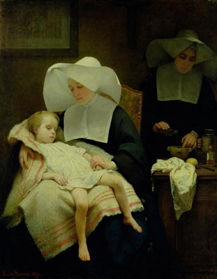 Fine Art Print of The Sisters of Mercy, 1859 by Henriette Browne