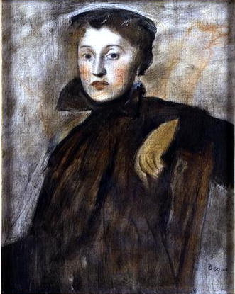 Study for a Portrait of a Lady, 1867 Poster Art Print by Edgar Degas