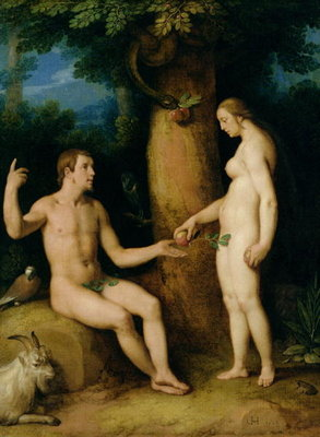 Fine Art Print of Adam and Eve, 1622 by Cornelis Cornelisz. van Haarlem
