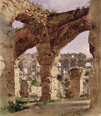 Fine Art Print of The Colosseum, Rome, 1835 by Rudolph von Alt