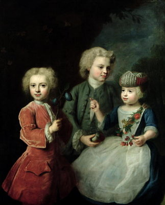 Fine Art Print of The Children of Councillor Barthold Heinrich Brockes by Balthasar Denner