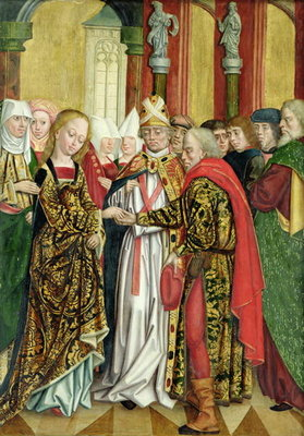 Fine Art Print of Marriage of the Virgin, from the Dome Altar, 1499 by Absolon Stumme