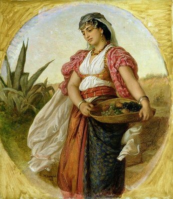 Fine Art Print of A Woman from Algiers, 1871 by John Evan Hodgson