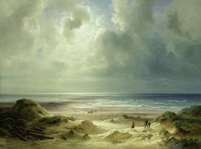 Fine Art Print of Dune by Hegoland, Tranquil Sea by Carl Morgenstern