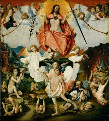 Fine Art Print of The Last Judgement by Jan II Provost
