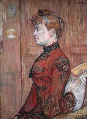 Portrait Study of a Woman in Profile, 1890 Poster Art Print by Henri de Toulouse-Lautrec