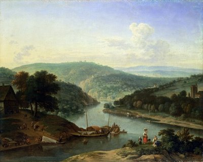 River Landscape, 1697 Poster Art Print by Jan van der the Younger Meer