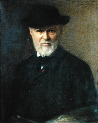 Portrait of Jean-Jacques Henner (1829-1905) 1899 (oil on canvas) by Jean Benner - print