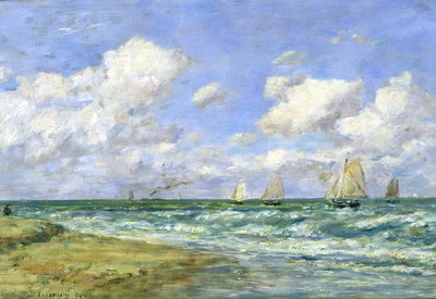 Marine scene, 1894 (oil on canvas) by Eugene Louis Boudin - print