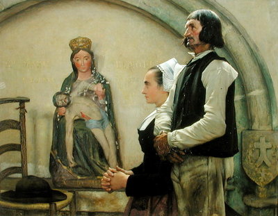 Visiting the Virgin of Benodet, 1898 (oil on canvas) by Jean Eugene Buland - print