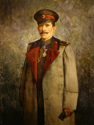 General Jekon, Chief of Staff of the Bulgarian Army, c.1916 (oil on canvas) by Vienna Nedomansky Studio - print
