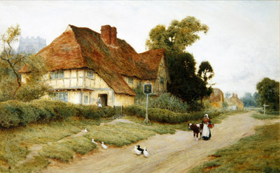 Fine Art Print of The Village Inn by Arthur Claude Strachan