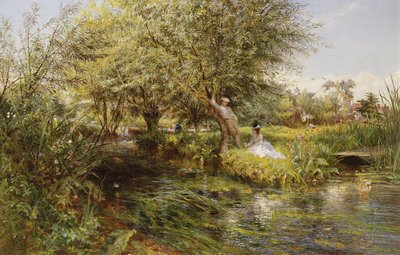 Fine Art Print of The Trysting Place by Charles James Lewis