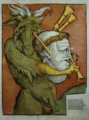 Fine Art Print of Luther as the Devil's Bagpipes, c.1535 by Eduard Schoen