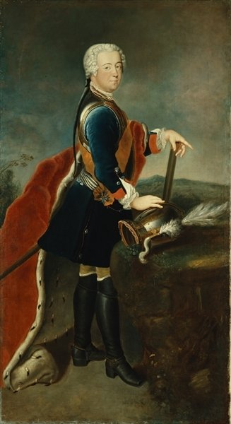 Fine Art Print of The Crown Prince Frederick II, c.1736 by Georg Wenceslaus von Knobelsdorff