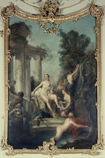 Diana and her Nymphs Bathing, 1747 (fresco) by Antoine Pesne - print