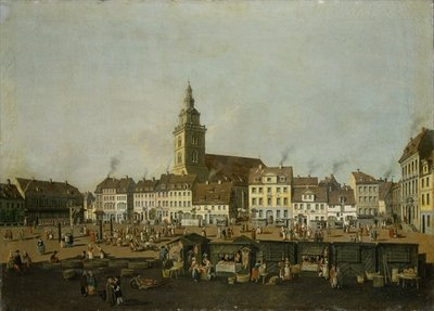 View of the Neue Markt with St. Mary's Church, Berlin, c.1770 (oil on canvas) by Karl Friedrich Fechhelm - print