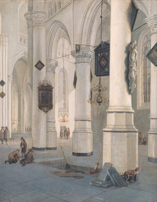 Church Interior (oil on canvas) by Emanuel de Witte - print