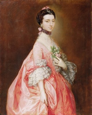 Mary Little, Later Lady Carr (oil on canvas) by Thomas Gainsborough - print